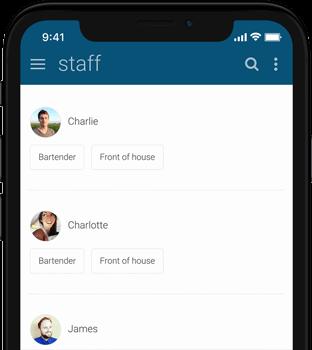 Findmyshift app running on an iPhone